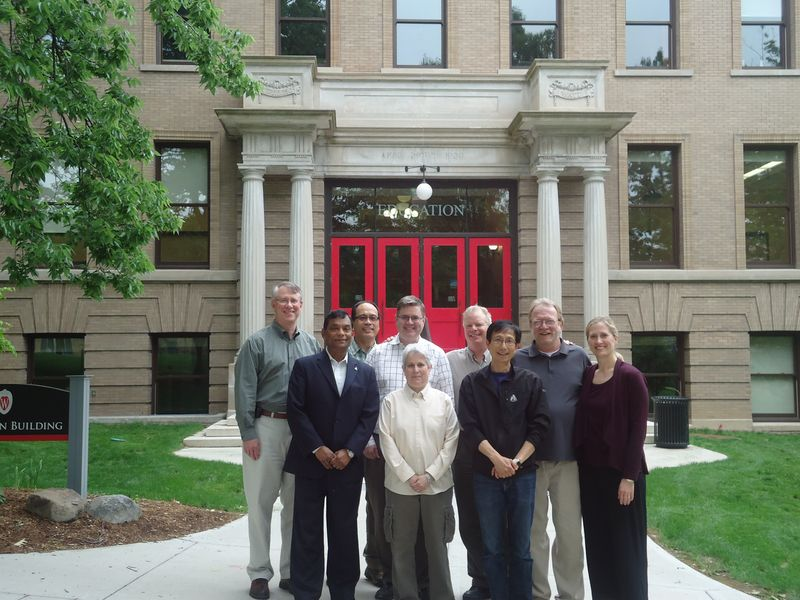 RRTC Phase II Research Team Left to Right: (front) Madan Kundu, Susan Sherman, Fong Chan; (back) Roy Del Valle, John Lui, Tim Tansey, David Rosenthal, Mike Leahy, Cayte Anderson